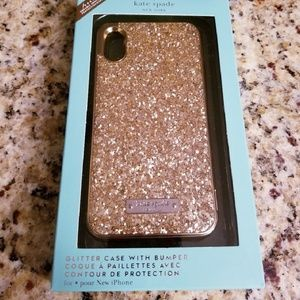 iPhone X, XS and XS Max Kate Spade Glitter Cases